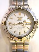 Menandrsquos Seiko 5 Sports Automatic 100 M Water Resist Day Date 7s36 Visible Mvmt