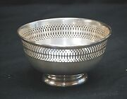 Old Vintage Fb Rogers Silver Co Pierced Candy Bowl Dish Silverplate Pattern 1912