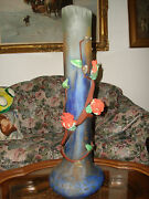 Vtg Hand Blown Glass Nemtoy Vase Pottery Made In Italy 29.5 Tall Heavy 20 Lb