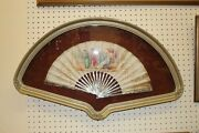 Incredible Framed Antique Mother Of Pearl Victorian Era Fan Asian Chinese