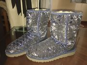 Uggs Limited Edition Vintage Rare Blue Color Sequin Brand New Bootsbreathtaking