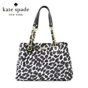 Authentic Kate Spade Maryanne Ocelot Printed Chain Tote Bag Purse 295 - Rare