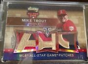 15/16 Topps Triple Threads Mike Trout Triple All Star Game Worn Patch 1/1 Sick