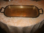 Ornate Silverplate Sheridan Tray 1920and039s To 1940and039s Silver Plate Hallmarks