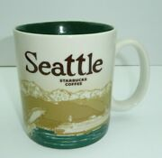 Starbucks Seattle Coffee Mug Cup City Icon Series Collection Collector 16oz 2011