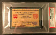 1946 Psa Ticket Pass Boston Red Sox Ted Williams Mvp/inside Park Hr Wins Pennant
