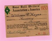 1950 Ticket Pass Gil Hodgers 4 Hr One Game Brooklyn Dodgers/17 Total Bases
