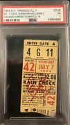 1954 Hrs Mickey Mantle/ted Williams/harry Agganis/yogi Berra Psa Ticket Red Sox