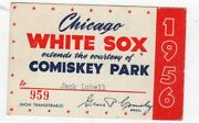 1956 Ticket Pass Mickey Mantle 50 Hr Clinches Ny Yankees Pennant/mvp/tc/ Ex