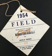 1954 World Series New York Giants Ticket Pass Field Willie Mays The Catch Gm 1