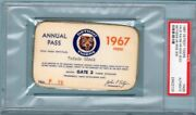 1967 Tigers Al Kaline 300 Hr Ticket Pass Psa/red Sox Win Pennant/mantle 3 Hrs