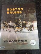 1970-71 Boston Bruins Yearbook Signed Ace Bailey Sgc Coa