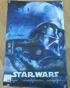 George Lucas Signed Star Wars 22x34 Full Size Movie Poster Psa Dna Coa Autograph