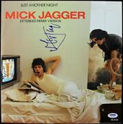 Mick Jagger The Rolling Stones Signed Just Another Night Album Psa Dna Autograph