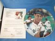 Ted Williams Signed Plate Boston Red Sox Sports Impressions Jsa Coa X07620 Mt
