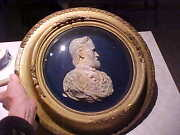 Vintage Old 1865 Civil War Ulysses S. Grant Metal Relief Picture Bust By Powell