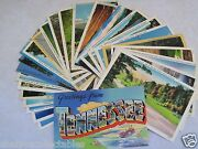Tennessee Tn. 27 Postcard Linen Lot Unused Picturesque One Large Letter Tenn B