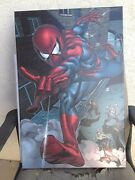 Marvel Artworks Spiderman Heroes For Hire 6 Gallery Wrapped Giclee On Canvas