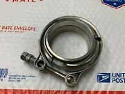 1320 Performance 2.5and039and039 V-band Flange Clamp Turbo Exhaust Down Stainless Steel