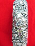 Unger Bros Sterling Silver Loves Dream Pattern Nouveau Vanity Brush Repousse