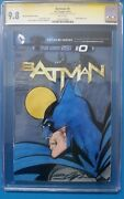 Batman 0 Cgc 9.8 Ss Signed And Sketch Fully Colored By Neal Adams On Partial
