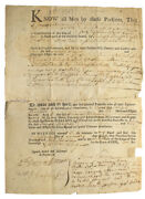 """New Hampshire / Printed Deed/land Transfer Accomplished Signed """"james 1745"""