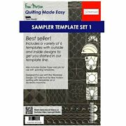 Sew Steady Quilting Template 6 Piece Template Set Low And Medium Shank