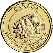 2015 Canada Gold Polar Bear And Cub 10 - 1/4 Oz - .9999 Fine - Bu