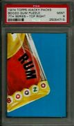 1974 Topps Wacky Packages Boozo Gum Puzzle Top Right 7th Series Psa 9 Mint Card