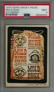 1974 Topps Wacky Packages Mold Rush 6th Series Tan Back Psa 9 Mint Card Rare