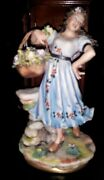Capodimonte Laurenz Collection The Flower Girl Enzo Arzenton Made In Italy