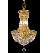 Palace 5th Ave 12x16 6 Light Crystal Chandelier Ceiling Light Gold