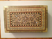 Old Persian Style Inlaid Jewelry Box… With Red Velvet Lining...