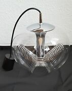 Xlarge Clear Glass Pendant Light By Koch And Lowy Peill And Putzler Germany 1970