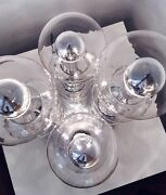 Hand-blown Doria Table Lamps Made Of Bubble Glass Space Age Germany 1970s