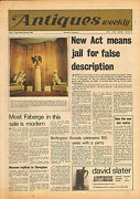 Art And Antiques Weekly October 26th 1968 Newspaper Us Civil War Weapons