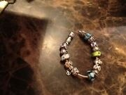 100 Authentic Pandora Charm Bracelet Size 17 With Charms Sterling Silver