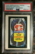 1973 Topps Wacky Packages Hostage Cupcakes 1st Series White Back Psa 7 Nm Card