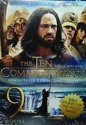 The Ten Commandments 3-hour Mini-series + 8 Bible Stories Total 13+ Hours Sealed