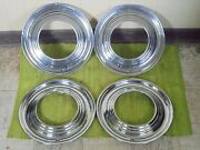 Rare 1951 Ford Accessory Trim Beauty Rings 15 Set 4 Wheel Hubcap Surround 51