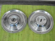 1951 Ford Accessory Trim Beauty Rings 15 W/dog Dish Hubcaps Pair 51