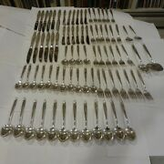 Reed And Barton Silver Sculpture Sterling Silver Service For 12-6pl Sets + 80pc