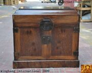 20old China Huanghuali Wood Hand Carved Storage Jewelry Box Boxes Treasure Case