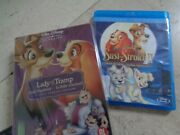 Lady And The Tramp Very Rare 3 Disc Steelbook Blu-ray Dvd Disney +part2 Sequel