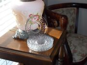 Vintage Lot Of 6 Crystal Glass Fostoria American Saucer Plates 6 Inches Cubists