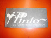 1973 Ford Pinto Original Factory Owners Manual Operators Book Second Printing