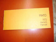 1972 Ford Pinto Original Factory Owners Manual Operators Book Fourth Printing