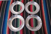 Nos 14 Beauty Trim Rings Hubcaps 1950's 1960's Chevy Ford Buick Accessory