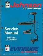 Evinrude Johnson Marine Boat Electric Outboards 1994 Service Manual P/n 500605
