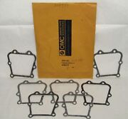 New Omc Outboard Marine Corp Boat By-pass Cover Gasket Lot Of 7 Part No. 304784